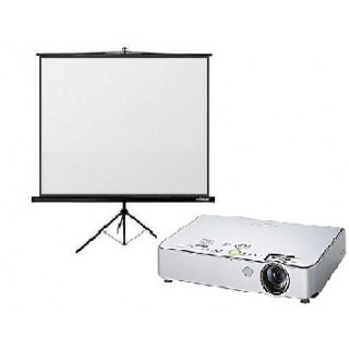 Video projektora ar 180x180cm ekrānu noma*