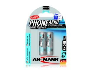 Rechargeable battery Ansmann AA Mignon 1300mAh PHONE DECT (2 Pcs)