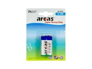 Battery Arcas 9V Block (1 Pcs.)