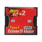 CF Card Adapter Extreme Type I for 2x MicroSD/SDHC/SDXC (Blister)