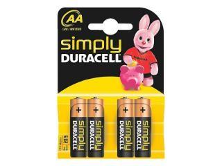 Batterie Duracell Simply MN1500/LR6 Mignon AA (4 Pcs)