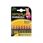 Batterie Duracell Simply MN2400/LR03 Micro AAA (8 Pcs)
