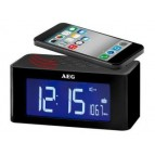 AEG Clock radio with cordless induction speaker MRC 4140 i black