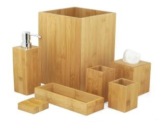 MK Bamboo LONDON - Bamboo Bath Accessoire Set (7-pcs)