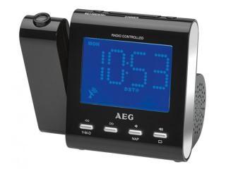 AEG Radio-controlled projection clock radio MRC 4122 F N Black