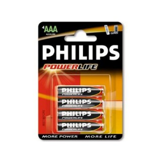 Battery Philips Powerlife LR03 Micro AAA (4 pcs)