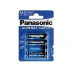 Batterie Panasonic (Blau) General R6 Mignon AA (4 St.)