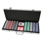 500 Poker Chips with Alu Case (11,5 Gramm)