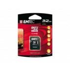 MicroSDHC 32GB EMTEC +Adapter CL4 Blister