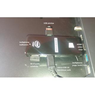 Mikrodatora MODECOM 32GB WIN10 ar Wi-Fi vadības pulti noma*